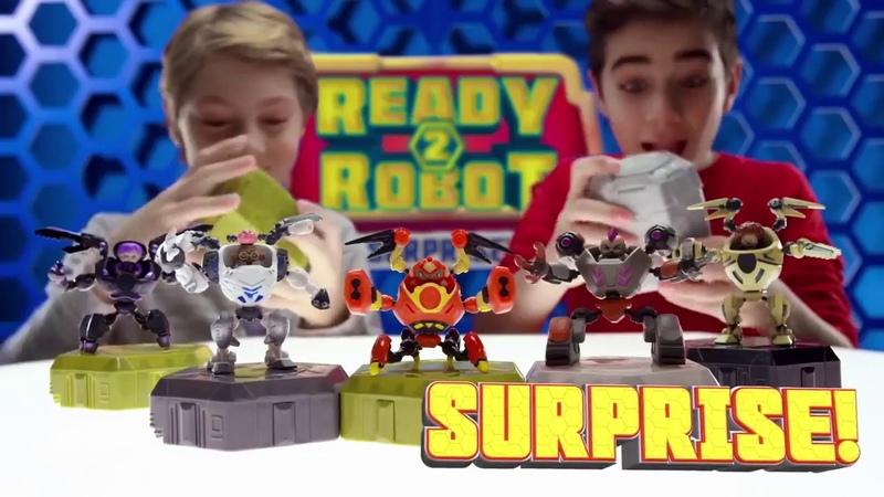 Игрушка фантастический Сюрприз для мальчиков Ready2Robot с роботом 551034 MGA
