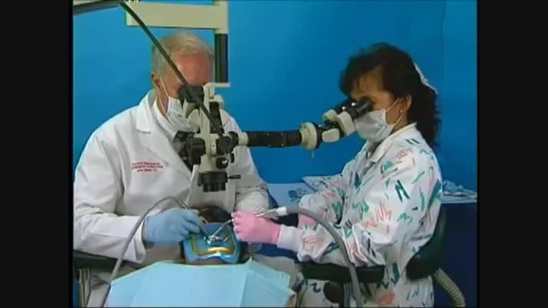 Эргономика в работе стоматолога и ассистента при использовании дентального операционного микроскопа 22.