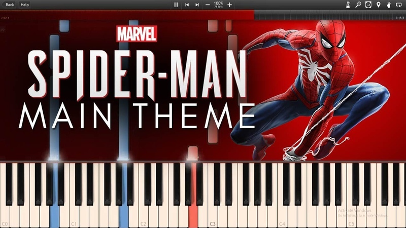 Marvel's Spider-Man PS4 Main Theme OST (Synthesia Piano Tutorial)SHEETSMIDI