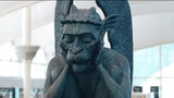 There's a talking gargoyle that is surprising visitors at DIA