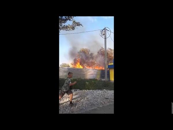 Пожар на проспекте Энтузиастов