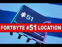 Fortnite Fortbyte 51 Location - Accessible Using The Cluck Strut To Cross Peely's Banana Stand