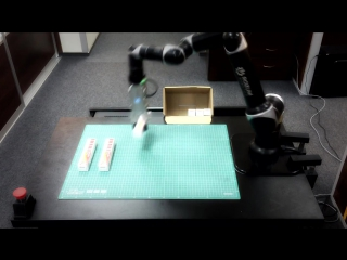 Packaging operation- pulse cobot packing toothpaste - упаковка- робот pulse складывает зубную пасту
