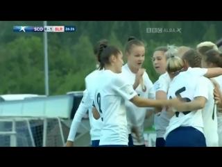 Гол Карины Ольховик в ворота сборной Шотландии