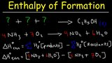 Enthalpy of Formation Reaction &amp Heat of Combustion, Enthalpy Change Problems Chemistry
