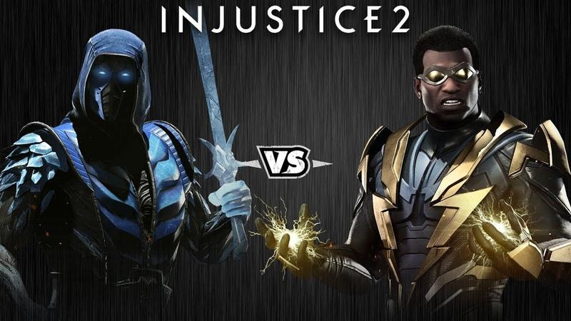 Injustice 2 Саб Зиро против Чёрной Молнии Intros Clashes rus