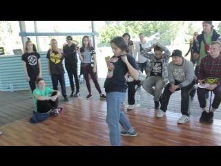 FUNKY МАЁВКА Aleksandra Velikaya vs SMEETY vs Dimon HIP-HOP 1X1