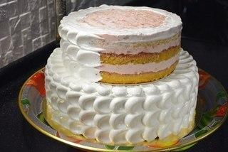 торт трехъярусный Как с фото приготовить