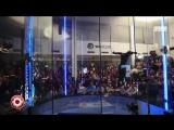 Леонид Волков победитель танцев в аэродинамической трубе