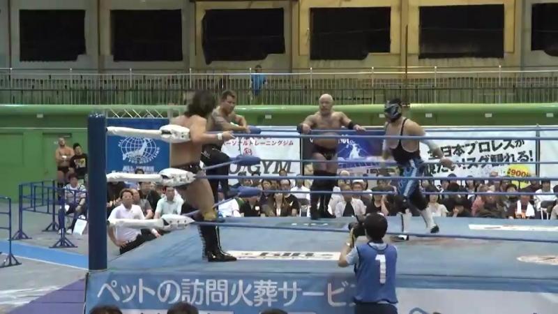 Suwama, Shuji Ishikawa, Atsushi Aoki vs. Zeus, The Bodyguard, Yohei Nakajima (AJPW - Dynamite Series 2018 - Day 6)
