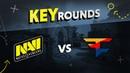 Key rounds NAVI vs FaZe on Mirage @ ESL Pro League S7