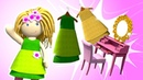 Кукольный домик - Гардеробная. Развивающие мультики для самых маленьких
