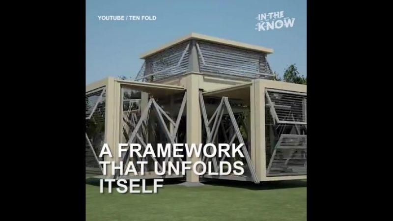 These mobile houses can fold and unfold... - In The Know Innovation