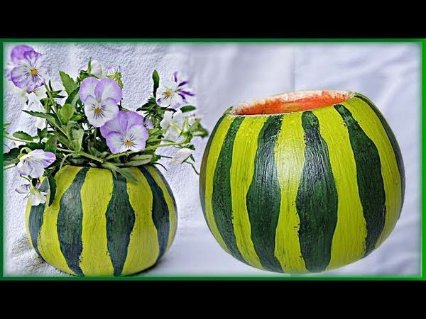 Сочная ваза/вазон из бетона. Украшения для сада своими руками