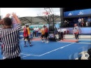 Nathan Schall's Poster Dunk Gets Serge Ibaka OUT OF HIS SEAT DANCING! NBA 3X Manchester!