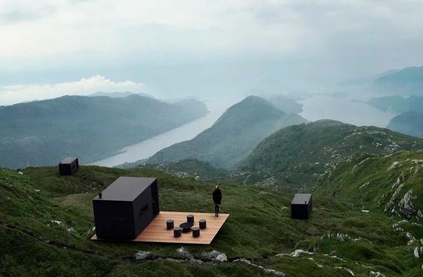 """""""Птичьи коробки"""" с видами на фьорды и горные хребты Норвегии"""