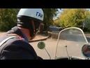 Мотоцикл Урал милицейский жёлто-синий (ретро 3)