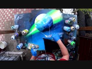 Edge of the world - spray paint art by skech. работа уличных художников