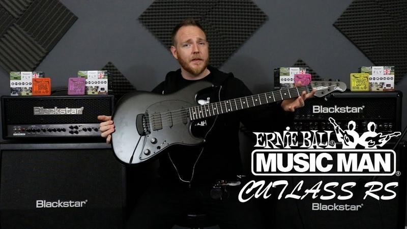 Ernie Ball Music Man Cutlass RS HSS Stealth Black DEMO