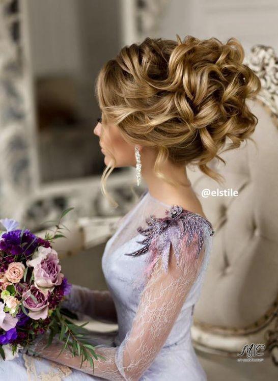 Причёска на свадьбу на средние волосы простые