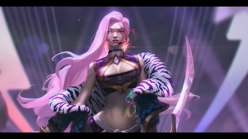 KDA Katarina - Goddess with a Blade (fanart)