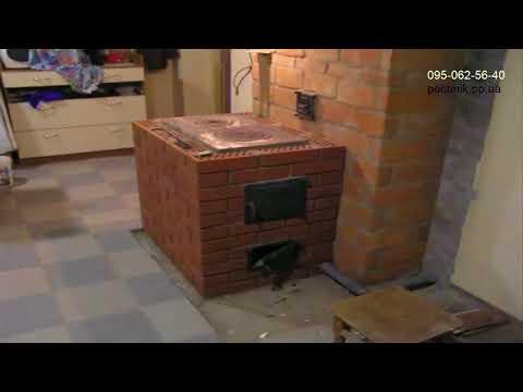 Печное отопление двухэтажного дома Колпаковые печи с грубами Печник