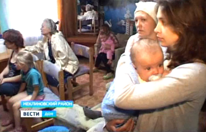 В «Красный десант» под Таганрогом прибыла ещё одну группа беженцев из юго-восточных районов Украины