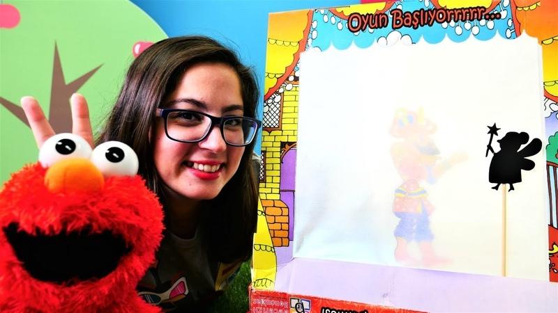 Okul öncesi çocuk videoları. Elmo ile gölge oyunu