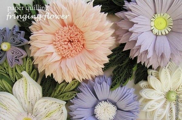 Очень красивые цветы. Квиллинг.