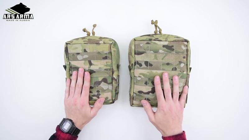 Ars Arma WAS средний и большой утилитарный подсумок\LargeMedium utility pouch