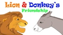 The Lion Donkey's Friendship English Story For Kids Moral Bedtime Stories For Kids In English