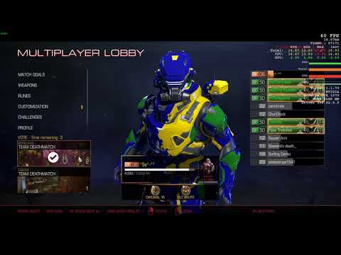 Doom multiplayer tdm i7 8700 gtx 1070 full hd maxed out