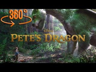 360 Virtual Reality Movie Trailer - Pete's Dragon. Dragon's Cave. 360 Video VR Experience 4K