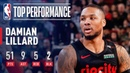 Damian Lillard Pours In Season-High 51 Points vs Thunder | March 7, 2019