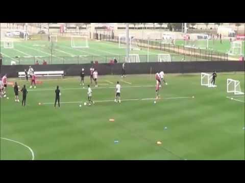 Ejercicio de futbol 3 x 1 defender 2 porterías