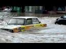 В Новороссийске улица с машинами ушла под воду 21.07.2018