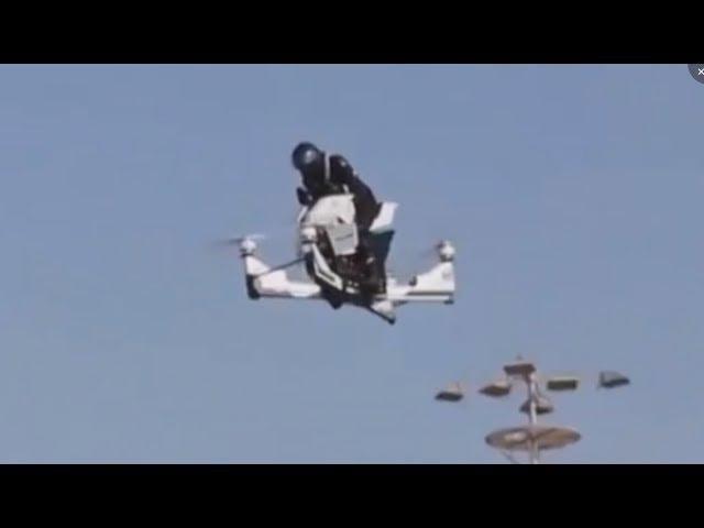 В Дубае на выставке представили летающий мотоцикл Ховербайк