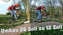 ALTHERRENRAD UMBAU! 26 Zoll zu 12 Zoll | almost crash | ESKALATION | lustigste Idee | DownhillSucht