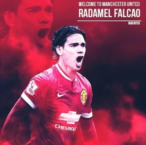 Фалькао станет самым высокооплачиваемым игроком «Манчестер Юнайтед».