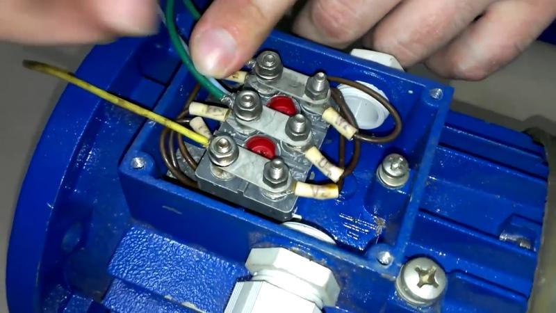 Подключить трехфазный двигатель в однофазную сеть. Пусковой и рабочий конденсаторы.