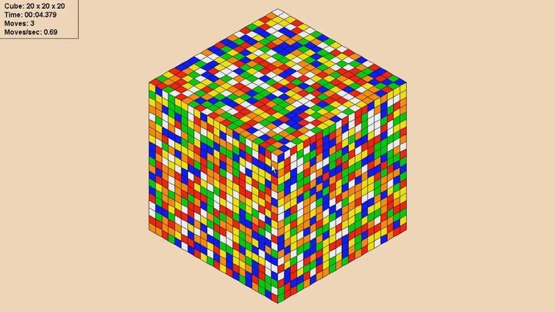 Кшиук собрал кубик Рубика 20х20 за 2 часа!