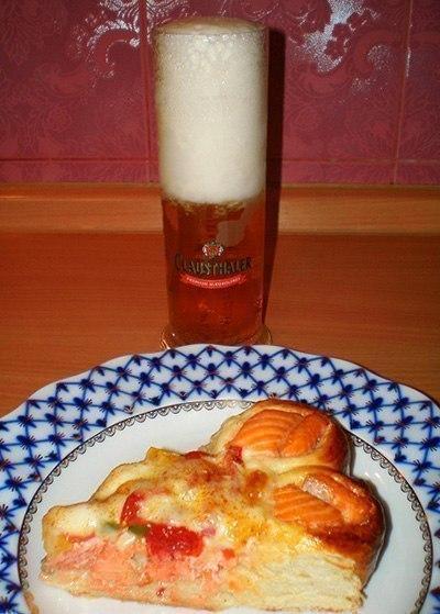 Красивый рыбный пирог Ингредиенты • 500 г муки +
