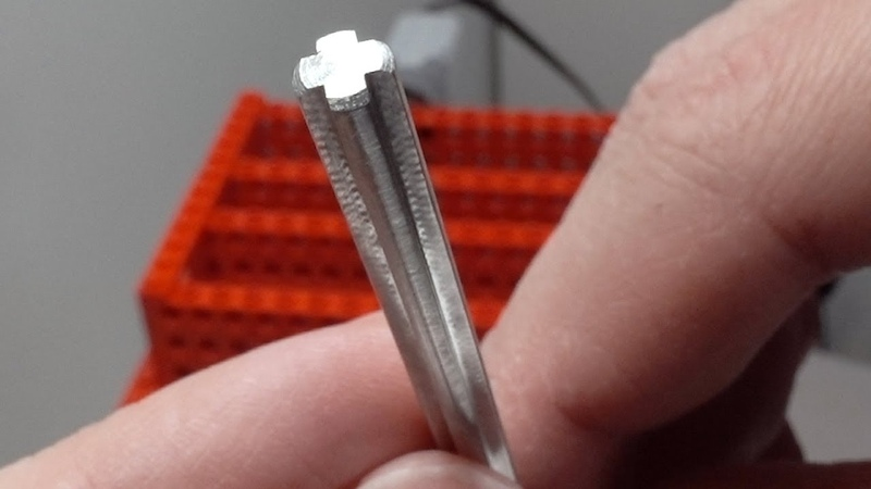 Testing a Lego-compatible Steel Axle