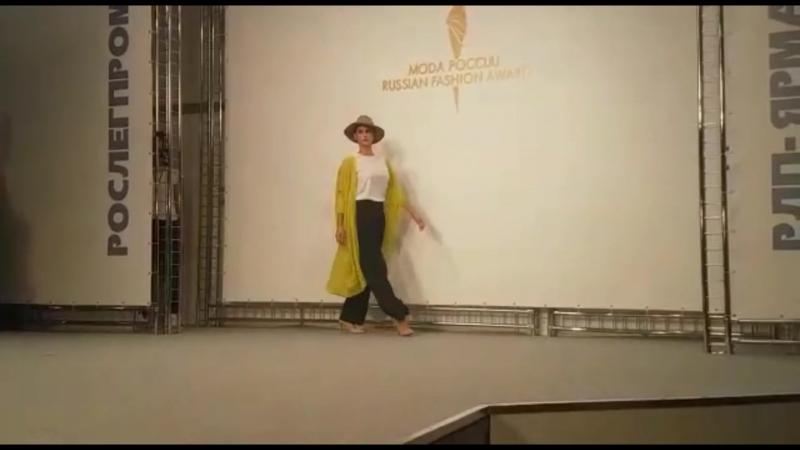 Показ коллекции Отражение мечты на всероссийском конкурсе Мода России