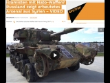 Islamisten mit Nato-Waffen Russland zeigt erbeutetes Arsenal aus Syrien VIDEO