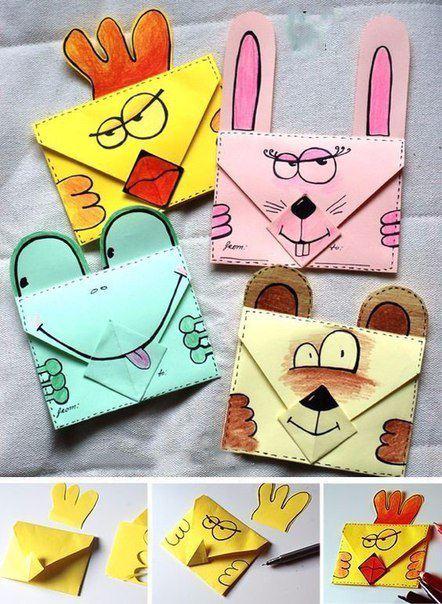 Как сделать маленькие конвертики своими руками