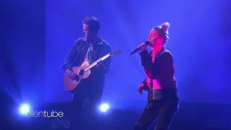 Miley Cyrus, Mark Ronson - Nothing Breaks Like a Heart (Live on Ellen)