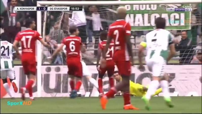 Konyaspor Sivasspor 5 0 Geniş Özet 08 04 2018 HD Коньяспор Сивасспор