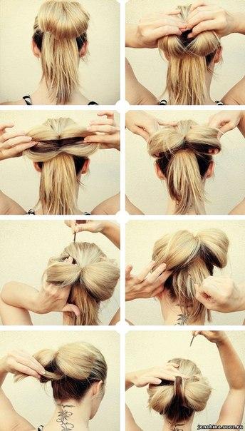руками на средние волосы