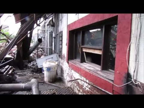 Abandoned Deserted Police Impound Dept. Gary, Indiana - Buckled Busted